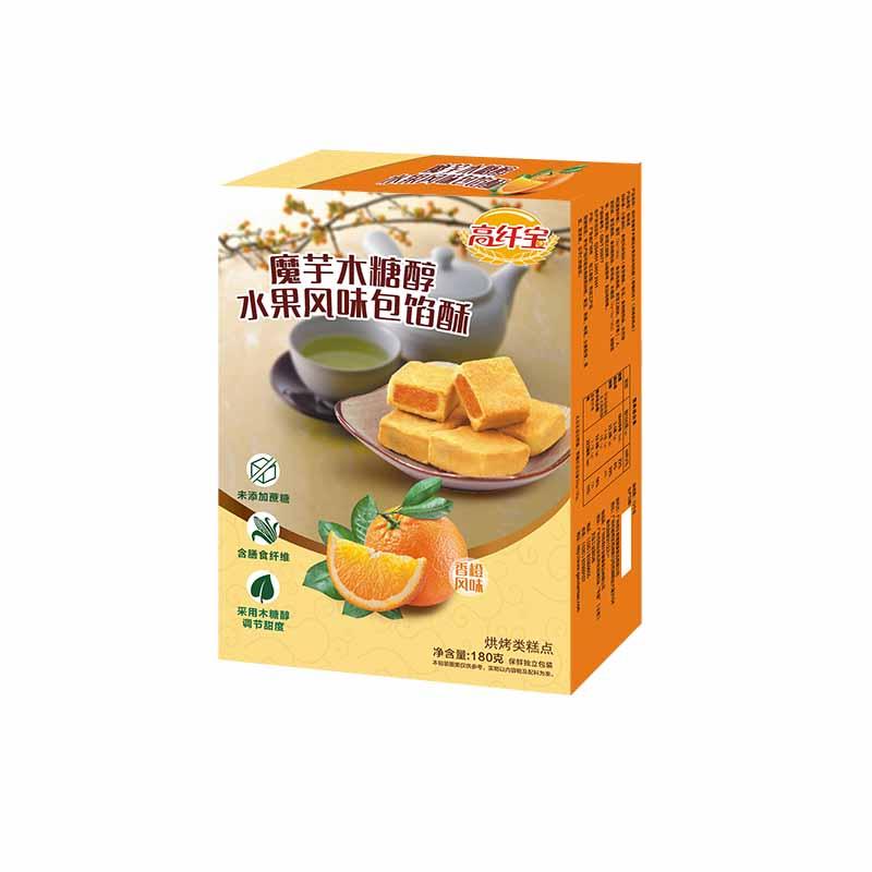高纤宝——木糖醇香橙味包馅酥